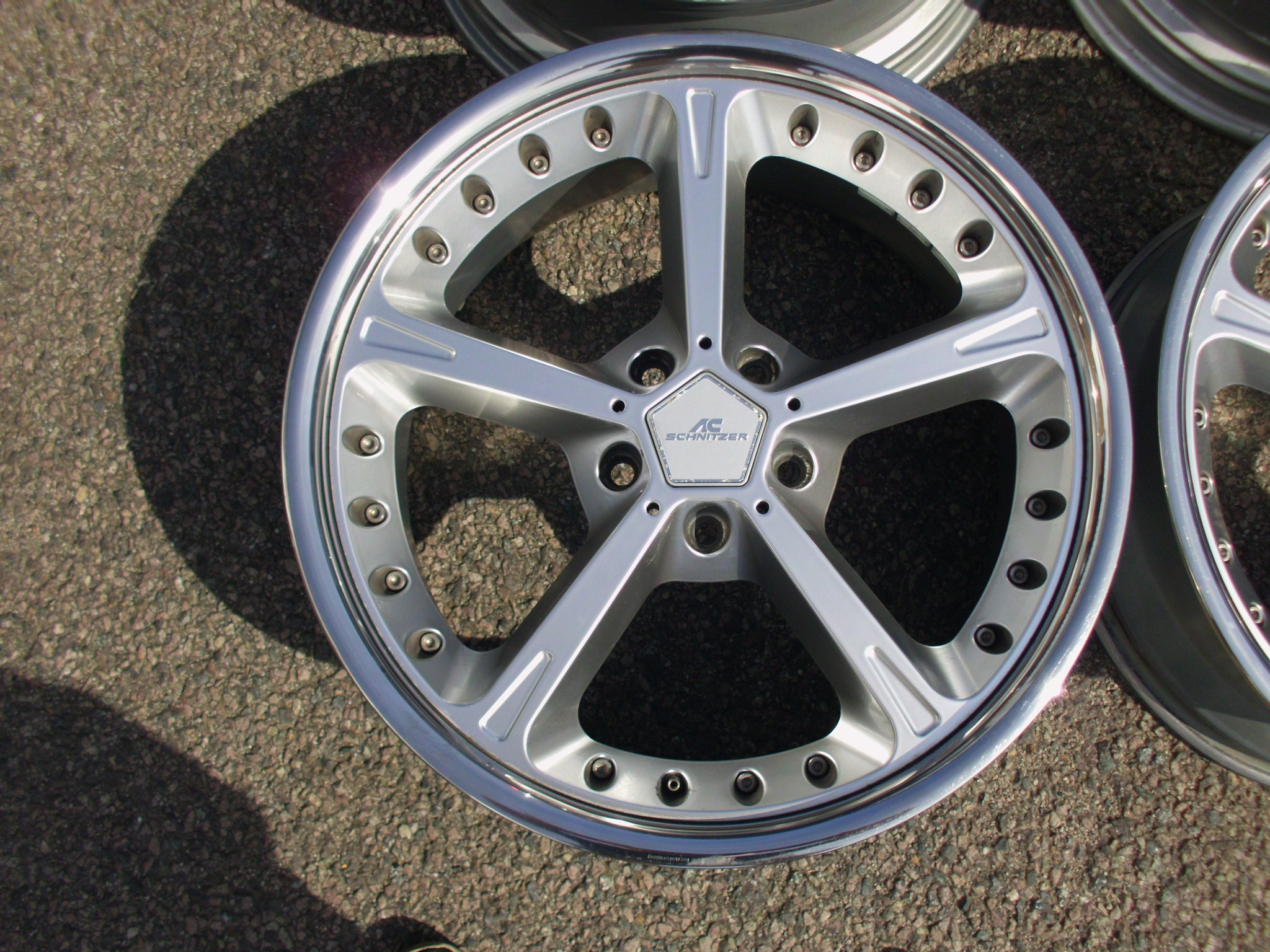 "USED 20"" GENUINE AC SCHNITZER TYPE IV RACING ALLOY WHEELS, WIDER 10"" NEW REARS,VG FRONTS"